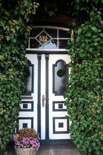 Efeu-Haus - die Eingangstür; Hohn (44)