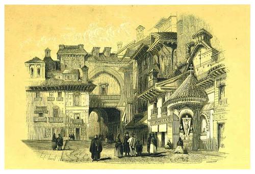 018-Puerta morisca en la Rambla de Granada-La Spagna, opera storica, artistica, pittoresca e monumentale..1850-51- British Library