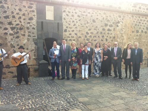 En el castillo de San José, en Arrecife de Lanzarote.