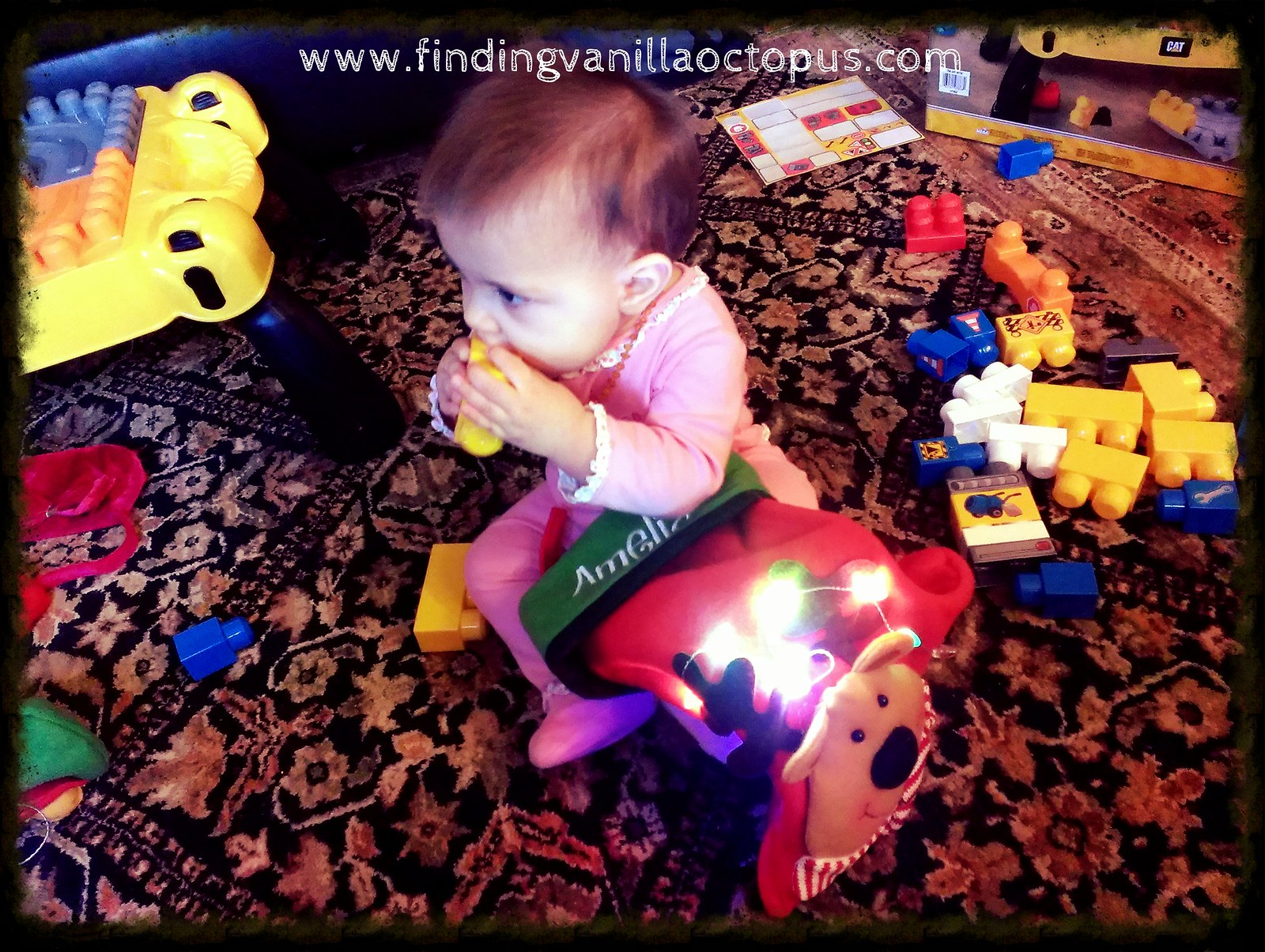 She Was Completely Absorbed With The Glowing Lights On Her