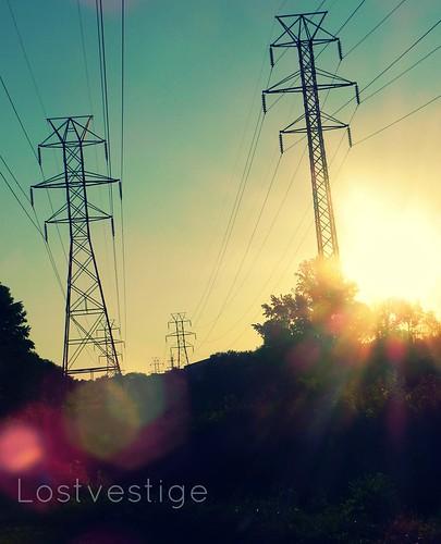 trees light sunset summer sky set outside nc nikon powerlines salem winston d5100
