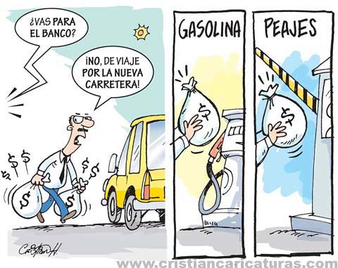 Peajes y gasolina
