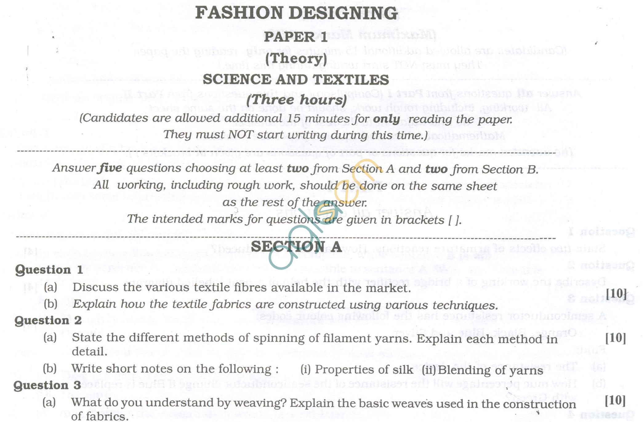Fashion design entrance exam 36