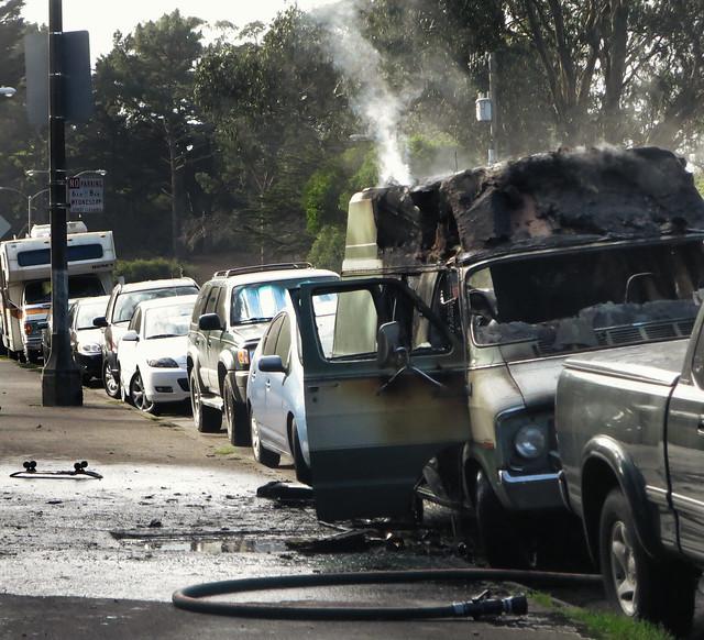 Burnt Van on Kezar Drive, San Francisco (2014)