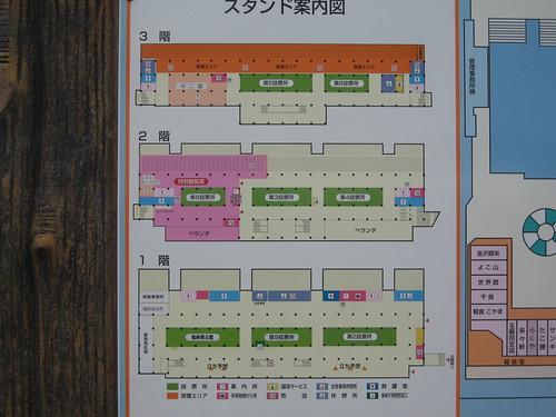 金沢競馬場のフロアマップ
