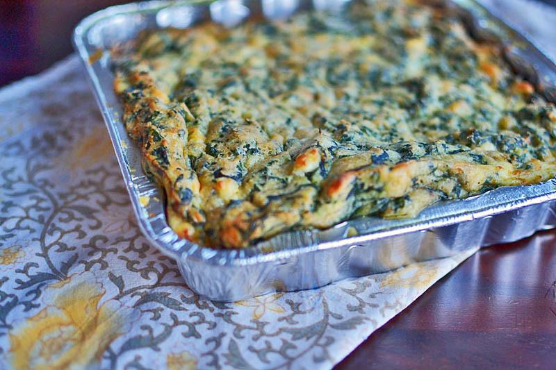 Sephardic Spinach Pie via LittleFerraroKitchen.com