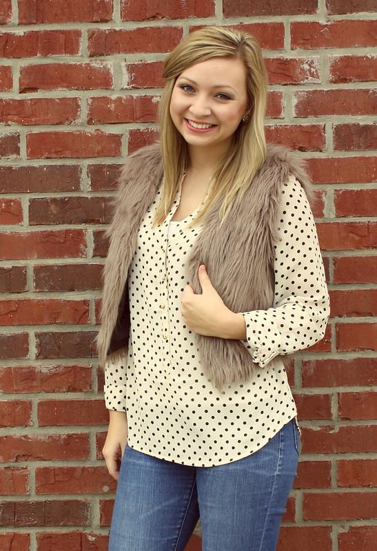 IMG_9274, polka dot, lauren conrad blouse
