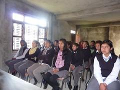 Students participating in interaction program at Prakash Library