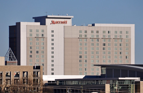 Marriott hotel, downtown Raleigh, NC