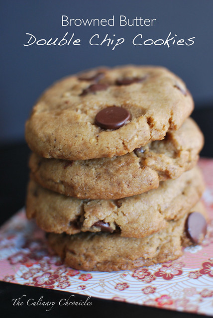 Browned Butter Double Chip Cookies