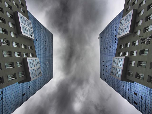 Vista de edificios en Bilbao. España.