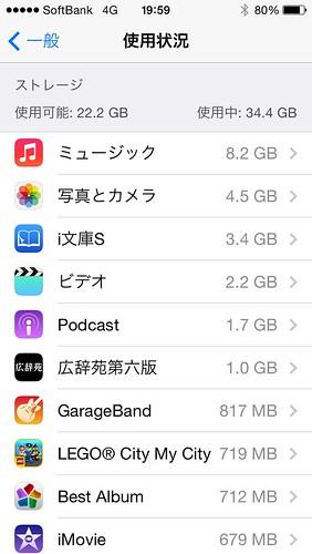 iPhone5s 使用状況