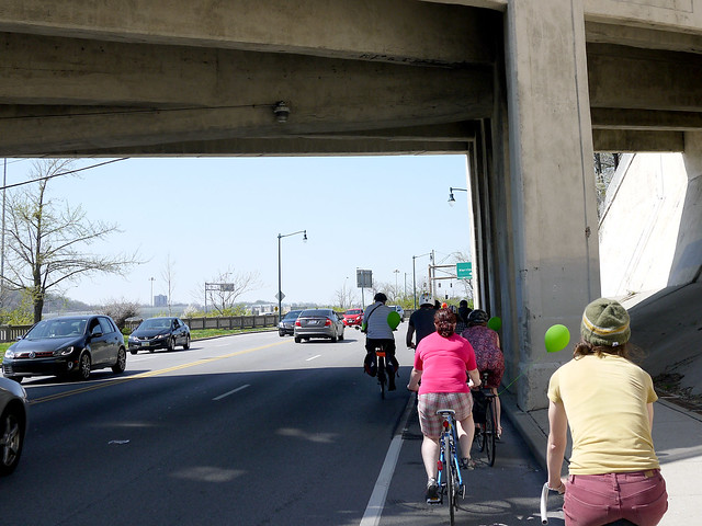 Central Parkway bikepath ride