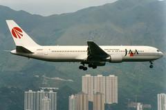 Japan Asia Airways, Boeing 767-300, JA8987, Hong Kong Kai Tak