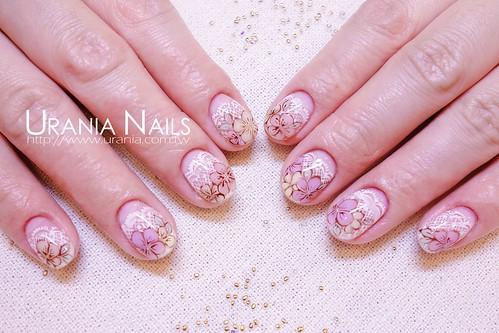 蕾絲凝膠指甲