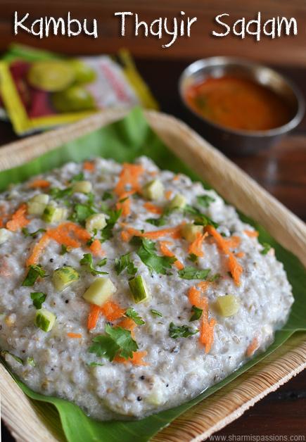Kambu Thayir Sadam Recipe
