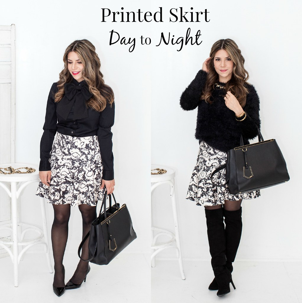 day to night_printed skirt