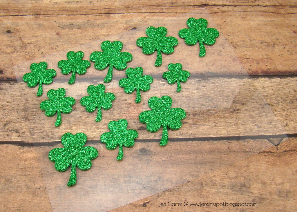 Jen Carter Frantic Stamper Good Luck Shamrock Stickers