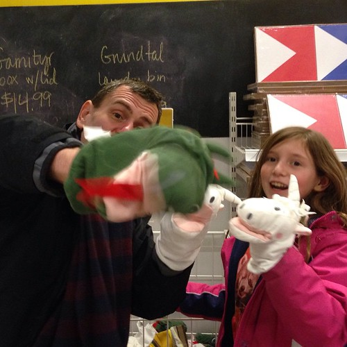 "We had a unicorn chorus singing ""Space Unicorn,"" then, out of nowhere, DRAGON PHOTOBOMB!!!!1!1! #puppets"