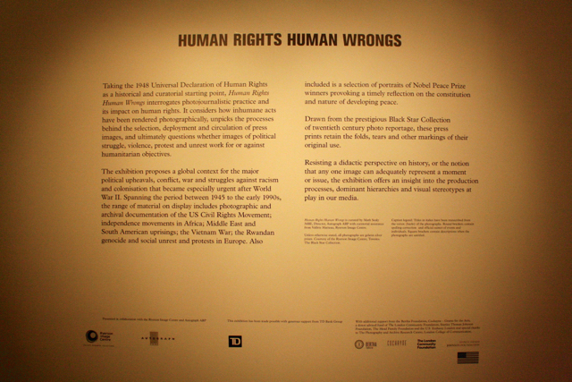 """Human Rights Human Wrongs"" photography exhibition at The Photographers Gallery, London"