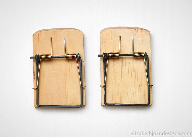 Cut Sanded Mouse Traps