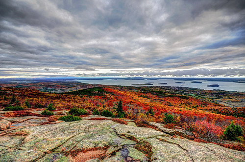 clouds landscape maine cadillacmountain acadianationalpark
