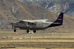 N711FX - 208B0433 - FedEx Feeder - Cessna 208B Super Cargomaster - Albuquerque, New Mexico - 141229 - Steven Gray - IMG_1389