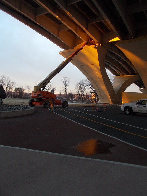 Maintenance at the Wilson Bridge