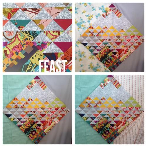 Feast quilt in progress
