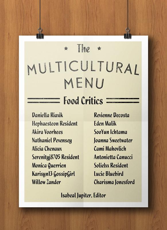 The Multicultural Menu Food Critics