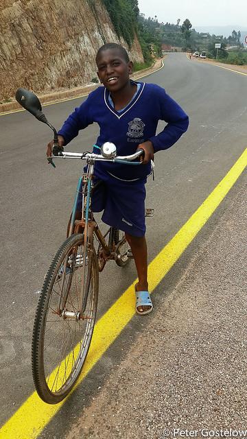 Rwandan school student