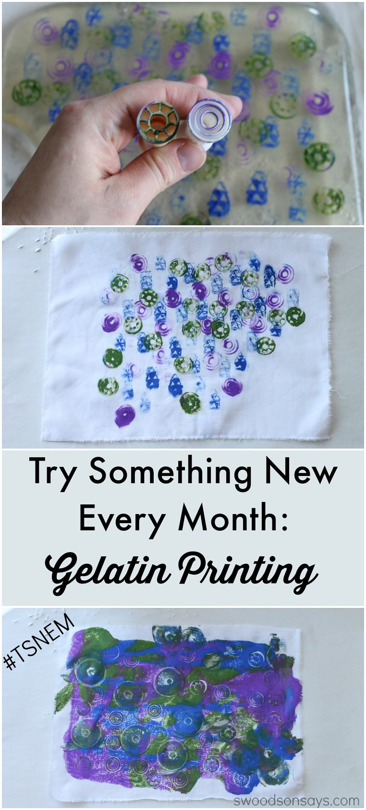 Gelatin Printing - Try Something New Every Month