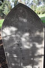 Slate headstone carved by John Richards, junior.
