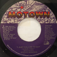 STEVIE WONDER:I JUST CALLED TO SAY I LOVE YOU(LABEL SIDE-A)