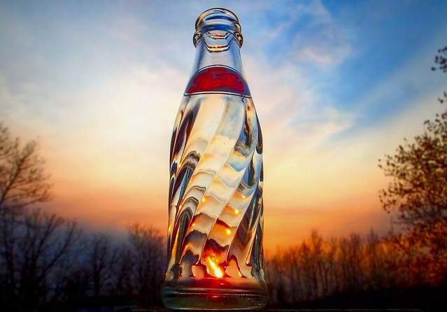 A Pepsi Cola Sunset in La Coulee, Manitoba