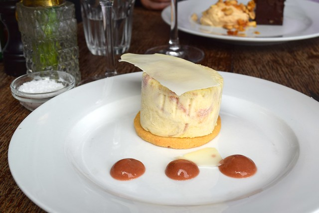 Rhubarb Parfait with White Chocolate at Wyatt and Jones, Broadstairs | www.rachelphipps.com @rachelphipps