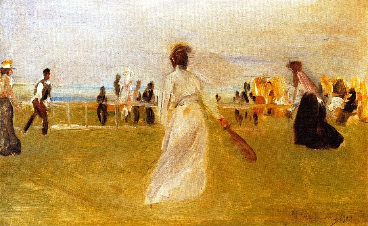 Tennis Game by the Sea by Max Liebermann - 1901