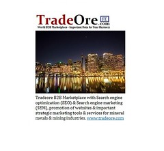 Tradeore B2B Marketplace Minerals and Metals Promotion Package (1)