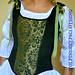 Corset Bodice Steel Boned Renaissance Green Taffeta and Corduroy by margaretdaniero