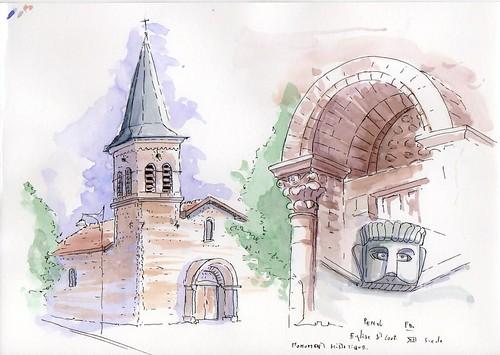 Penol - Eglise saint Loup - Bâtiment du XII siècle classée