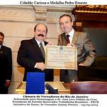 O Fundador e Presidente do PRTB Levy Fidelix, recebeu o título de Cidadão Carioca