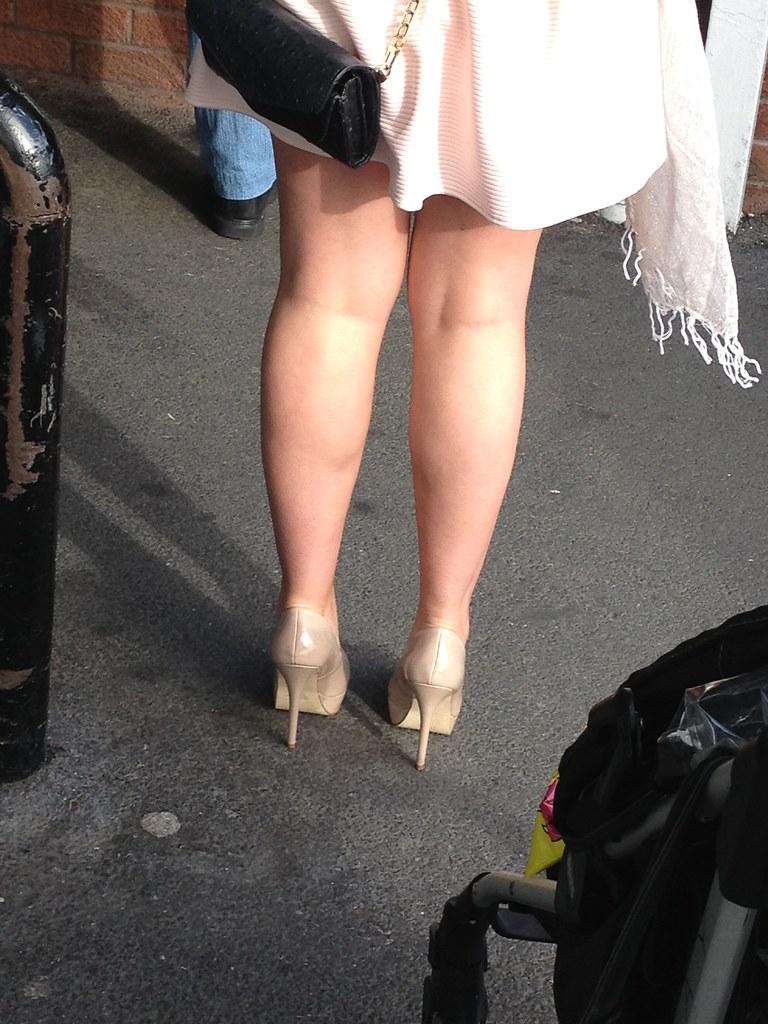 Candid mature high heels