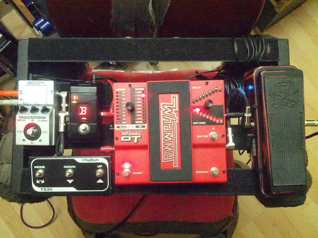 Photo:I added another component to my guitar's pedalboard, basically it's just three extra foot switches for my Whammy pedal. By colmmcsky
