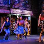 Lauren Csete, Melanie Porras, Sarah Crane, and Alessandra Valea in a scene from the SpeakEasy Stage Company production of IN THE HEIGHTS, extended now thru June 16 at the Stanford Calderwood Pavilion at the Boston Center for the Arts, 527 Tremont Street in Boston's South End.  Tix/Info:  617-933-8600 or www.SpeakEasyStage.com</a>.  Photo:  Craig Bailey/Perspective Photo.