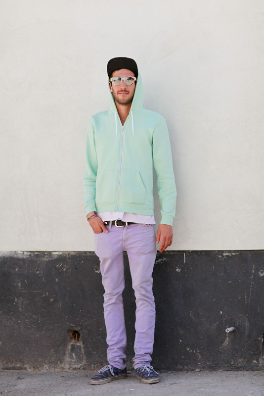 green_lavendar street style, street fashion, men, Valencia Street, San Francisco, Quick Shots