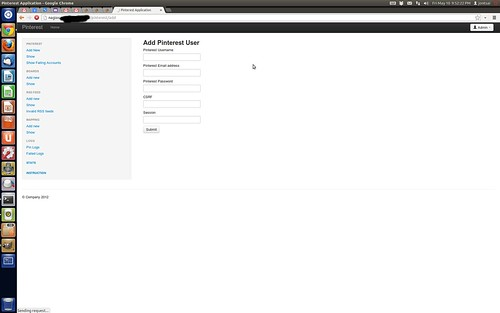 Pinterest admin site