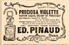 Belle époque-1897 Le petit journal ad for Pinaud violet perfume