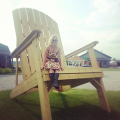 You have to stop and sit when you find a ginormous chair