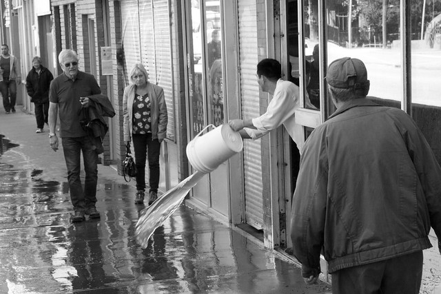 Calgary Flood 2013 - Day 3: bailing in Chinatown