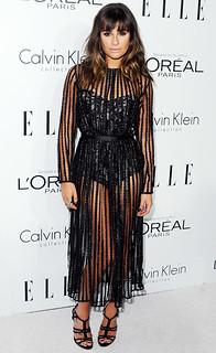 Lea Michele Sheer Dress Celebrity Style Women's Fashion